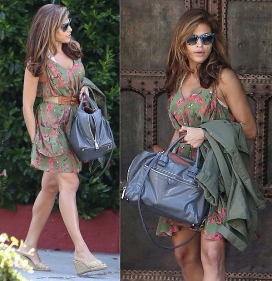 eva-mendes-2012-street-style-candids-out-and-about-august-floral-dress-marc-jacobs-bag
