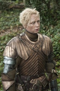 "Game of Thrones - Series 02 Episode 10 ""Valar Morghulis"" Gwendoline Christie as Brienne. ©Copyright 2000-2005 Home Box Office Inc"
