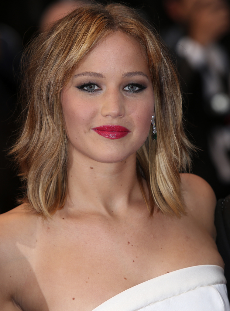 "Actress Jennifer Lawrence at the screening of the film "" Jimmy P. Psychotherapy of a Plains Indian "" at the 66th international film festival, in Cannes, southern France, Saturday, May 18, 2013."